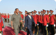 Presidents Afewerki and Museveni inspecting guard of honor at Asmara