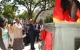 President Museveni and First Lady Janet Museveni unveil the Monument