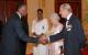 Rwanda President Kagame greets Prince Philip.