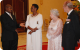 The Museveni's have a light moment with the royal couple