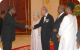 Prince Phillip greets and welcomes more guests to the State Banquet in honour of