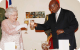 Toasting for good health at the State Banquet in the Queen's honour