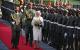 Queen Elizabeth II inspects a Guard of Honour