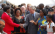 Prince Charles in the People's Place with local artiste Halima Namakula