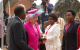 Queen Elizabeth II being received by Minister of Education