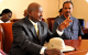 Presidents Museveni and Afewerki brief the media at Asmara