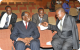 Buganda's PM Walusimbi on the left