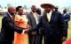 Area MP Kyammadidi wellcoming President Museveni