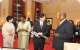 (L-R)Princess Kiko,First Lady Janet Museveni,Prince Akishino and President Musev
