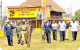 President Museveni flanked by Inspector General Kale Kayihura and Kampala Mayor