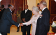 The Kyabazinga of Busoga Wako Mhuloki (RIP) greets the Queen