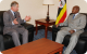 Prince Charles and President Museveni in bilateral talks at Serena