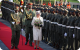 Queen Elizabeth II inspects a Guard of Honour