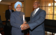 President Museveni and India Prime Minister Dr. Singh during a courtesy call