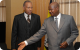 President Museveni with Trinidad and Tobago Prime Minister Patrick Manning