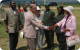 Prince Phillip greeting Uganda Wildlife Authority staff
