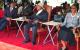 H.E. President Yoweri Kaguta Museveni having a word with Kenya's Vice President