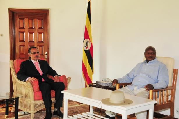 President Museveni meets with visiting former Chairman of the National Council