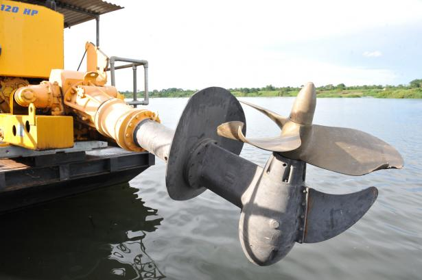 Damaged ferry propellers which got damaged during trial crossings.