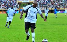 President Museveni and UN Secretary General play football with war victims
