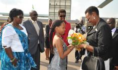 First Lady Janet Museveni in Rwanda on a two day visit