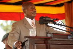 President Museveni speaking at Uganda's 49th Independence Anniversary in Lira